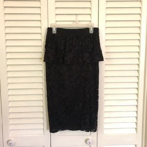 High-Waisted Peplum Skirt